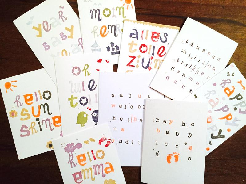 Karten selber machen - Handlettering, Stempeln, etc. für ...