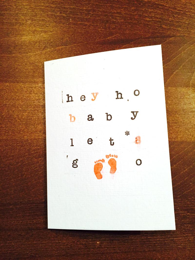 Hey Baby & Co.- Karten stempeln