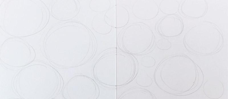 kreise zeichnen und daraus ein sch nes muster gestalten zeichen bung tag 2 creatipster. Black Bedroom Furniture Sets. Home Design Ideas