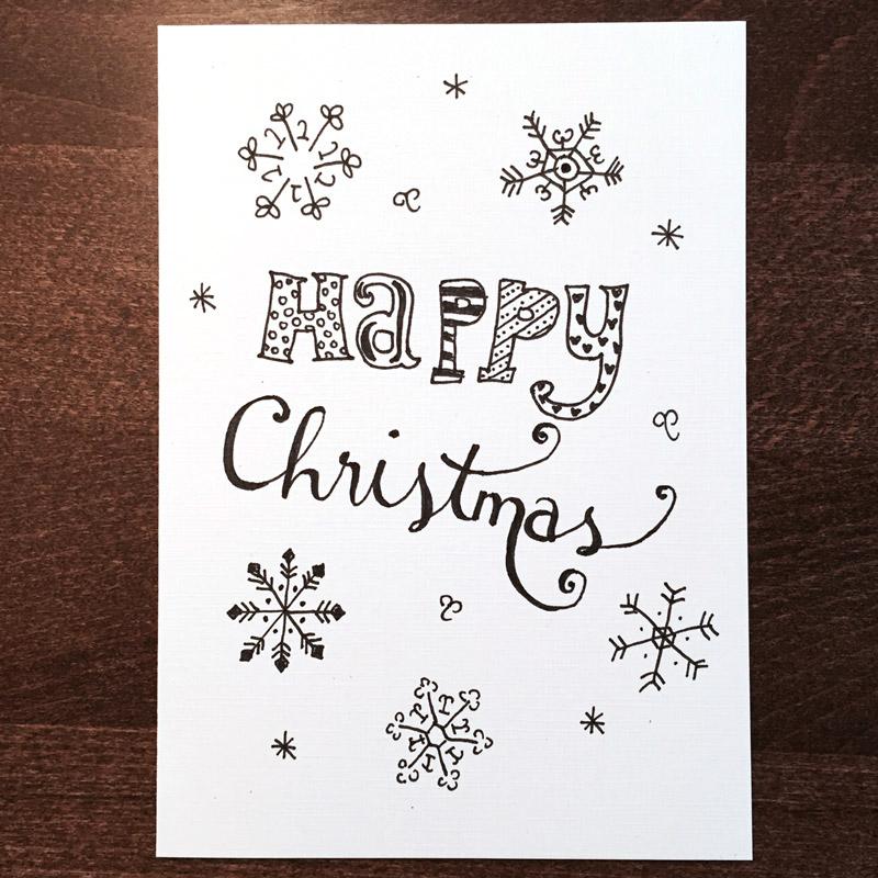 doodle diy doo 7 ideen zum weihnachtskarten zeichnen. Black Bedroom Furniture Sets. Home Design Ideas