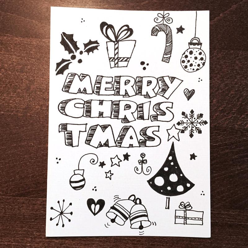 Doodle diy doo 7 ideen zum weihnachtskarten zeichnen - Zeichnen ideen ...