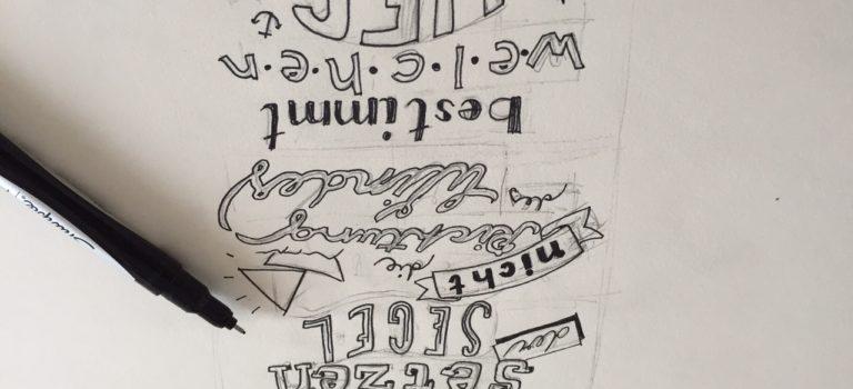 Eine Woche lang Hand Lettering – Technik, Inspiration, Übungen und Beispielschriften