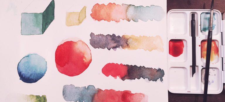 Erste Schritte mit Wasserfarbe