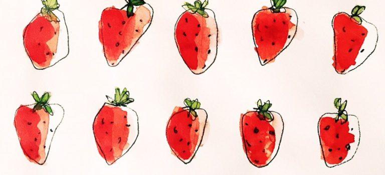 Juni ist Zeit für Erdbeeren – entweder selbst gepflückt (noch nichts vor am Wochenende?) oder mit diesem Tutorial in 30 Minuten gezaubert