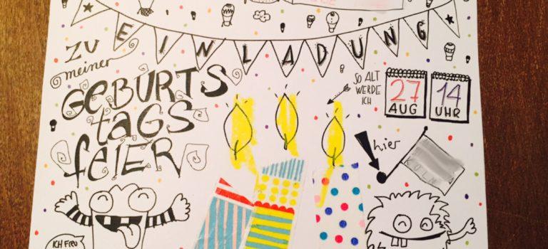 Hurra, Geburtstag! Wie wir unsere Einladung zum Kindergeburtstag basteln