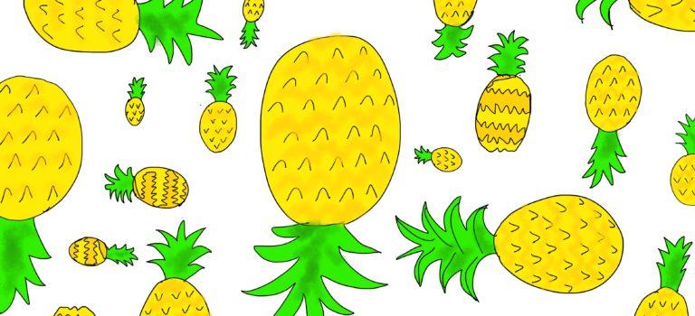 Hallo Sommer! Ananas und Zitrusfrüchte sind tolle Sommer-Motive… und ein DIY Lesezeichen für die Strandlektüre