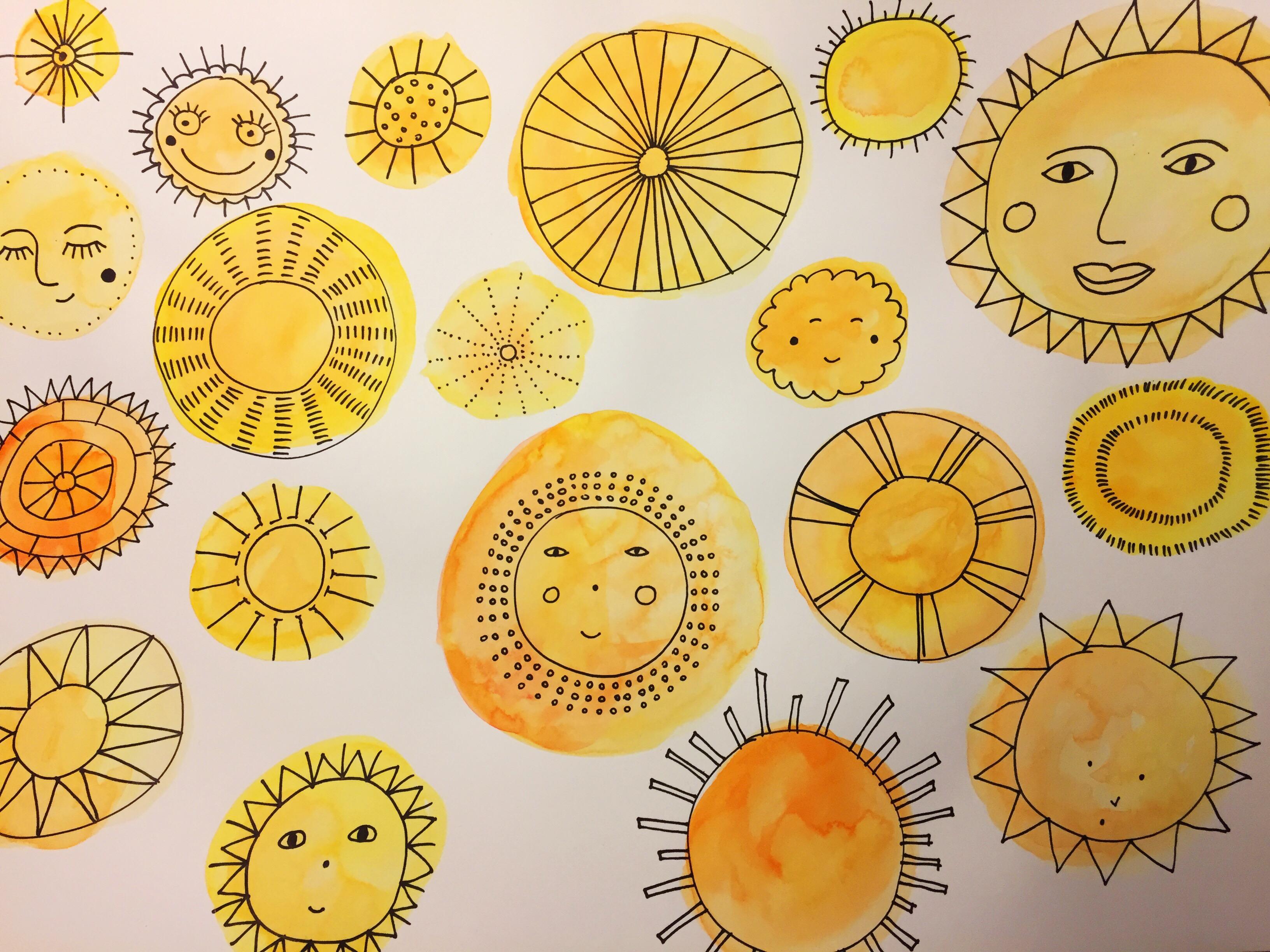 Doodle Prompt   Wie viele Arten gibt es, eine Sonne im Doodle Stil zu zeichnen?