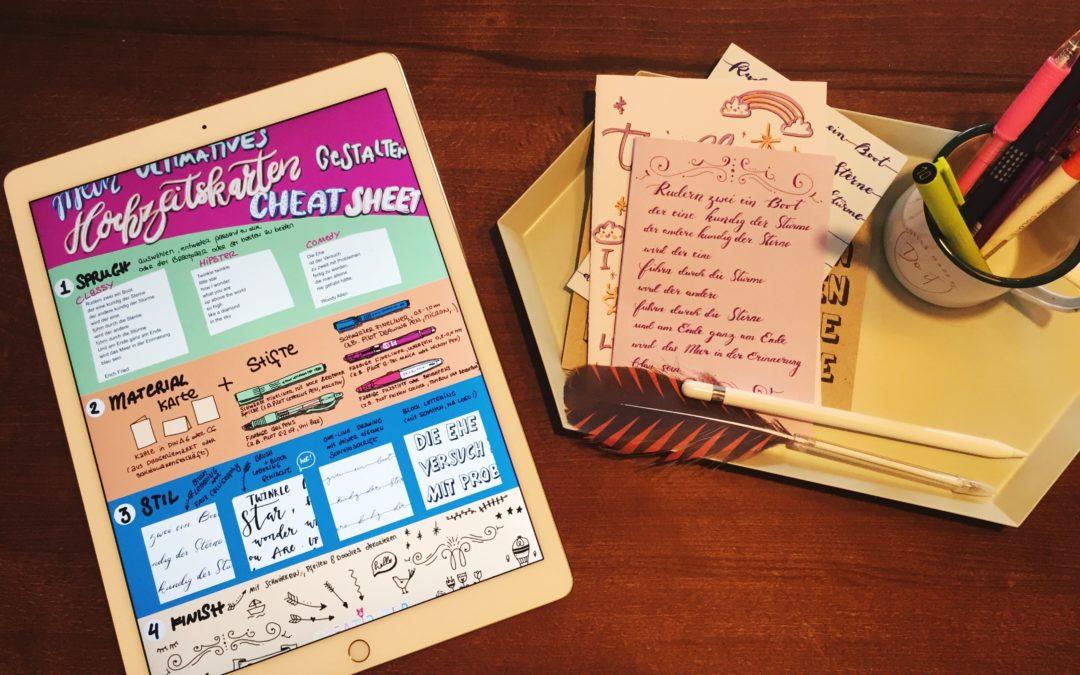 (M)ein ultimatives Hochzeitskarten gestalten Cheat Sheet