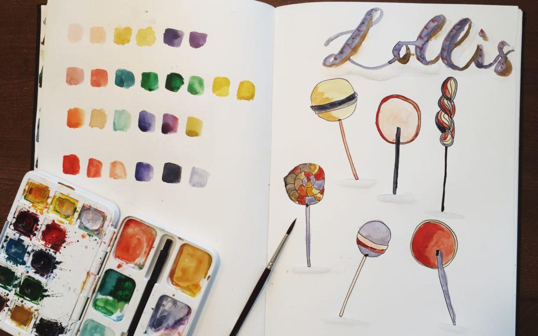 Wasserfarbe für Einsteiger | Schöne Farben mischen und Farbpaletten kreieren