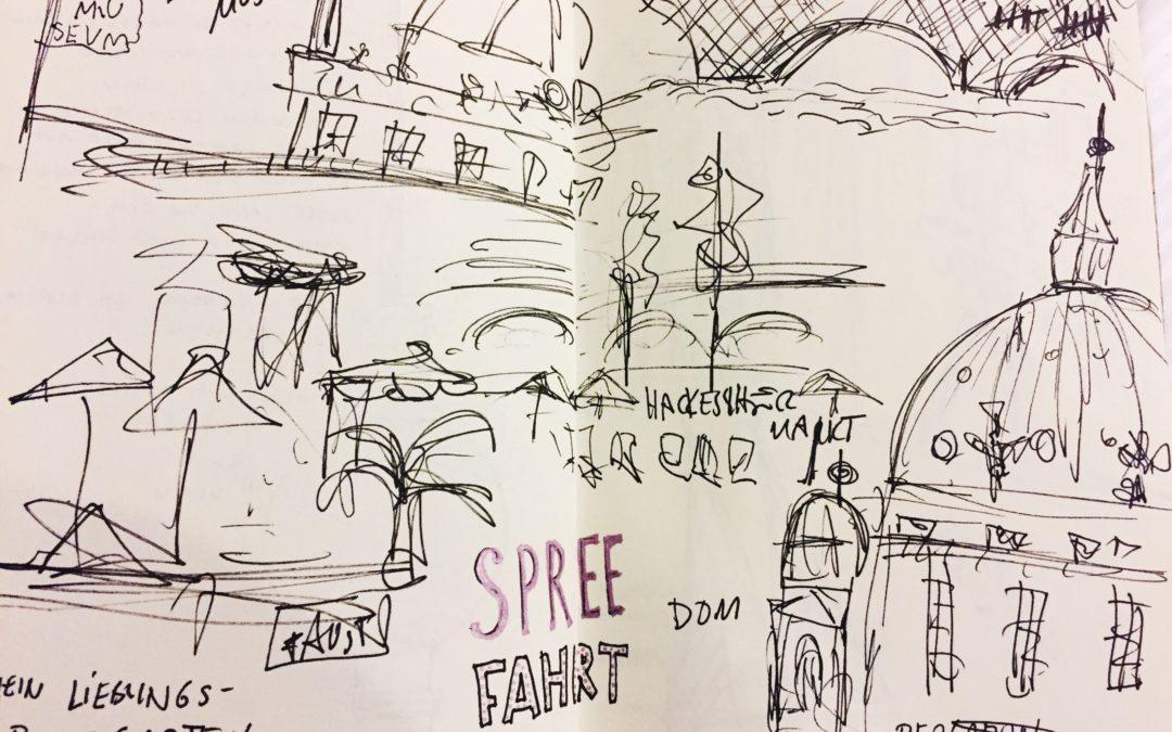 Zeichnen unter Zeitdruck – und zwar auf der Spree!