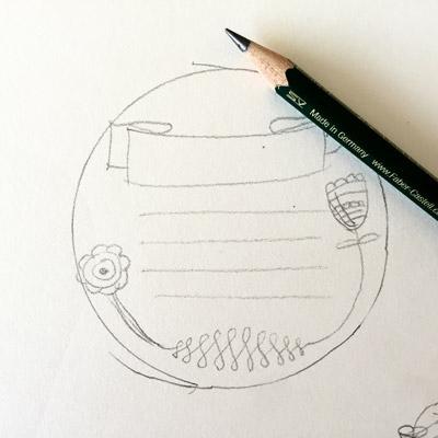 Zeichnung-Schild