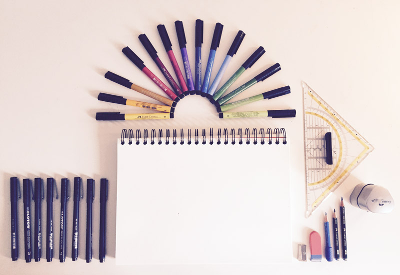 Zeichnen lernen im Doodle Stil | Tag 1: Material und erste Grundelemente