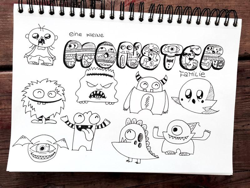 Kleine Susse Monster Zeichnen Creatipster