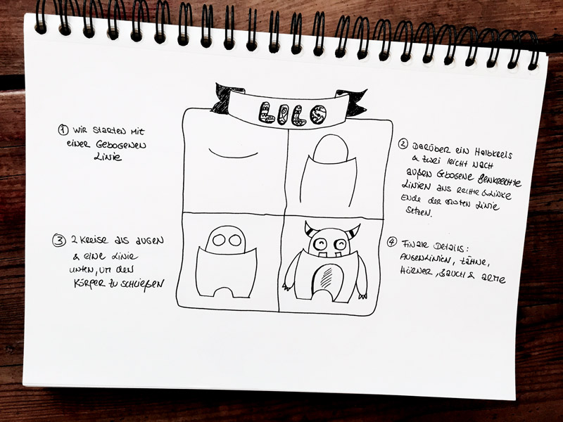 Monster-zeichnen-Lilo-mit-Block