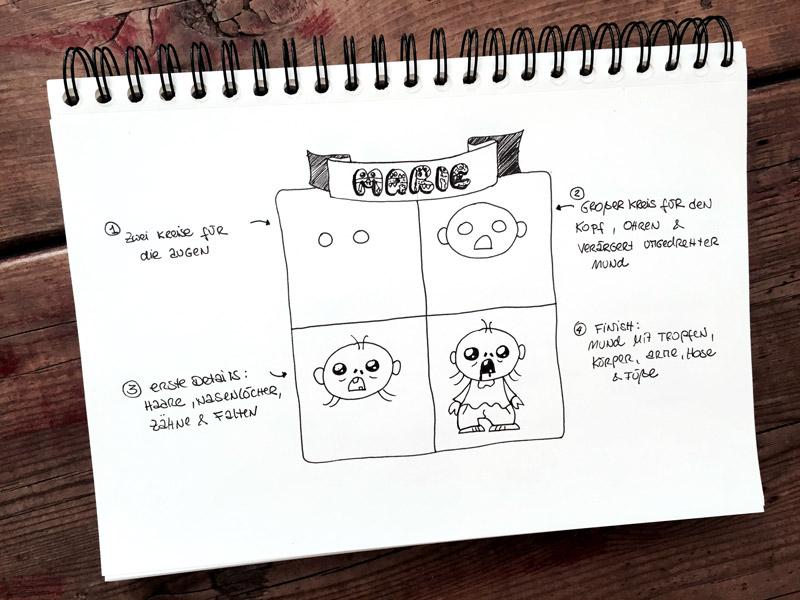 Monster-zeichnen-Marie-mit-Block