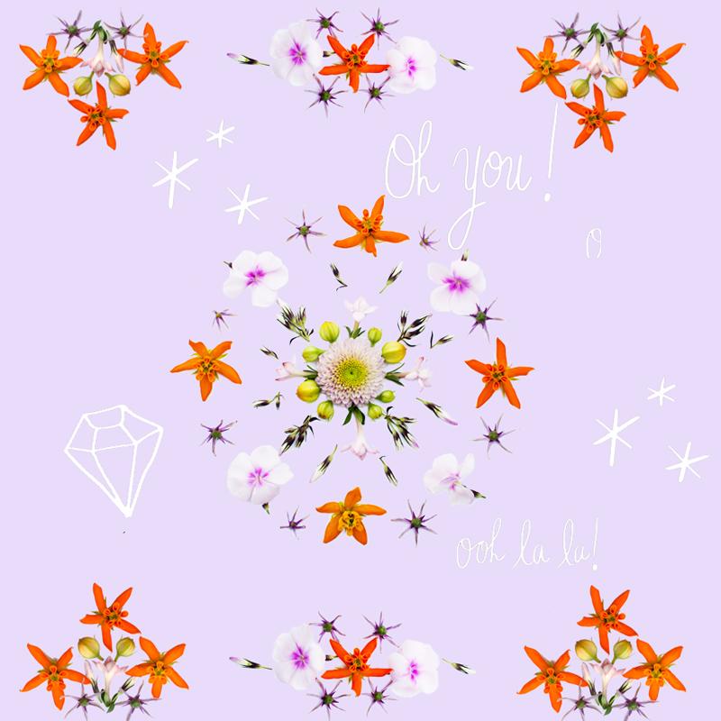 Mit echten Blumen basteln – Muster machen, Bilder malen und Karten gestalten