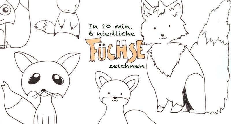 Füchse sind gar keine Rudeltiere | In 10 Min. 6 niedliche Füchse zeichnen