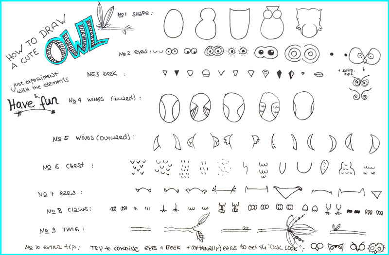 How-to-draw-a-cute-owl