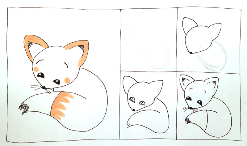 How-to-draw-cute-fox-3
