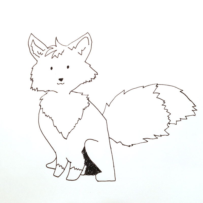 How-to-draw-cute-fox-4