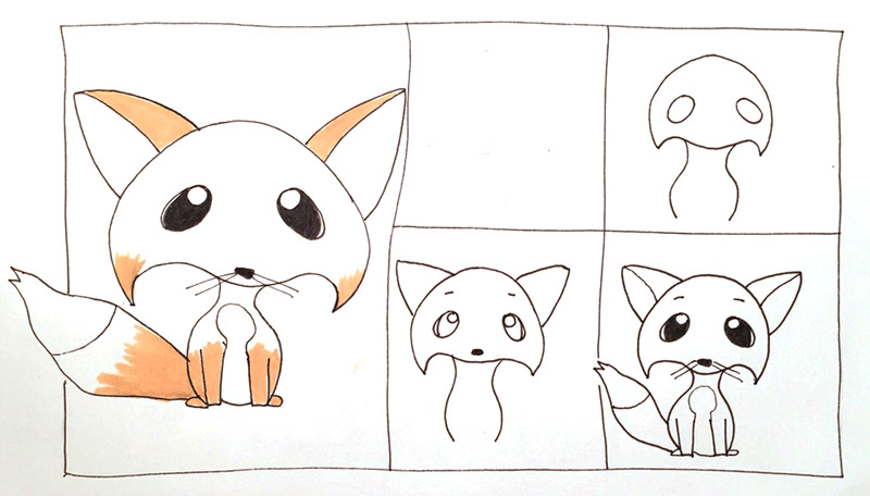 How-to-draw-cute-fox-5