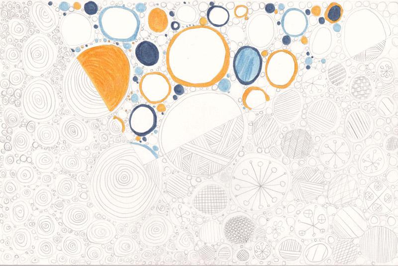 Kreise zeichnen und daraus ein schönes Muster gestalten | Zeichenübung Tag 2
