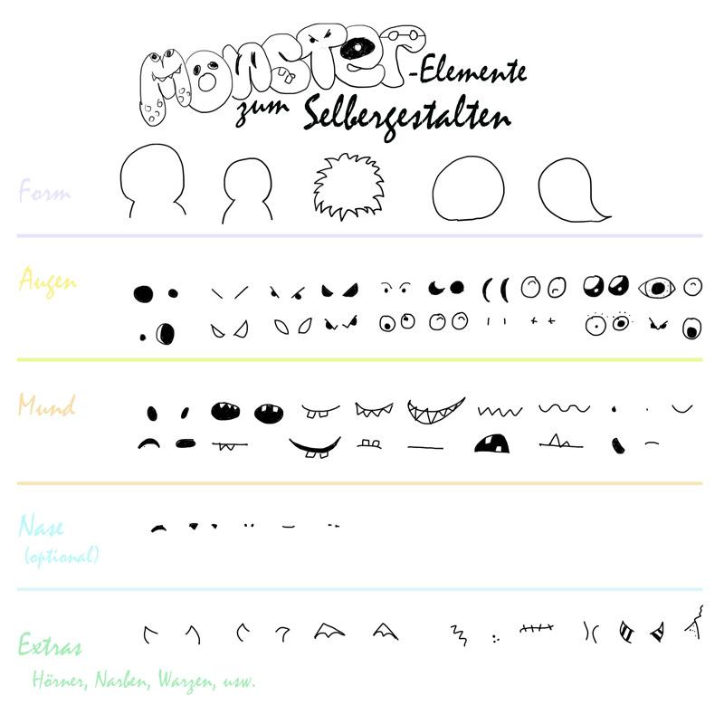 Einfache-Monster-zeichnen_Elemente-zum-Selber-Gestalten