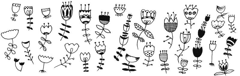 aus einer tulpenform weitere 30 einfache blumen zeichnen zeichnen lernen im doodle stil tag 5. Black Bedroom Furniture Sets. Home Design Ideas