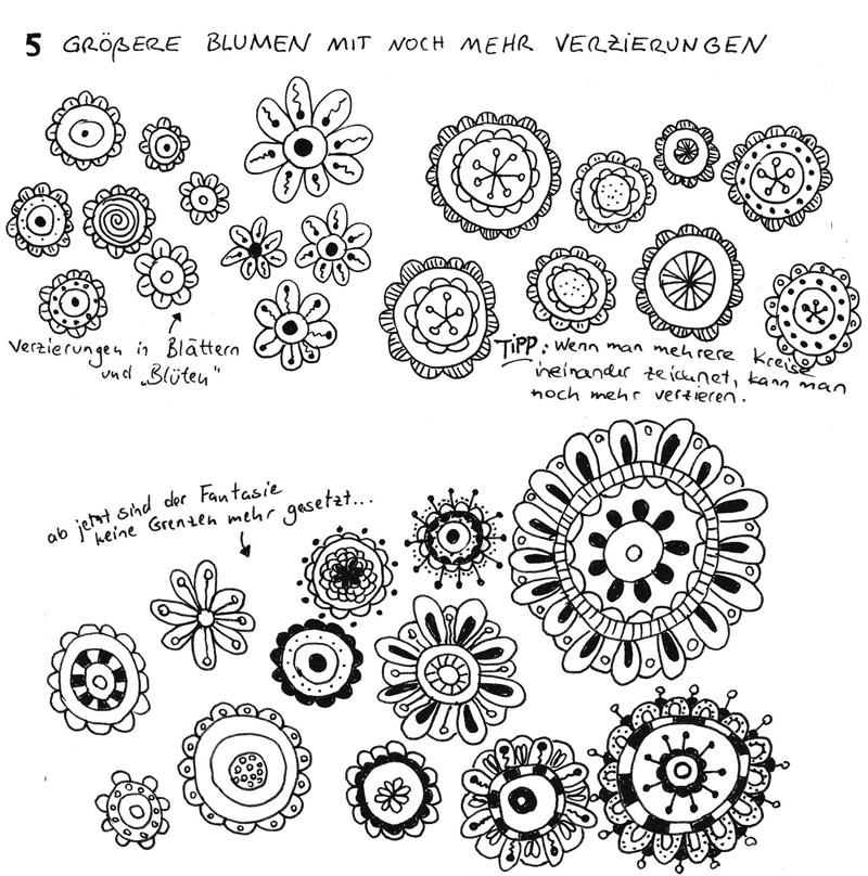 Einfache-Blumen-zeichnen_groessere-Blumen-mit-noch-mehr-Verzierungen