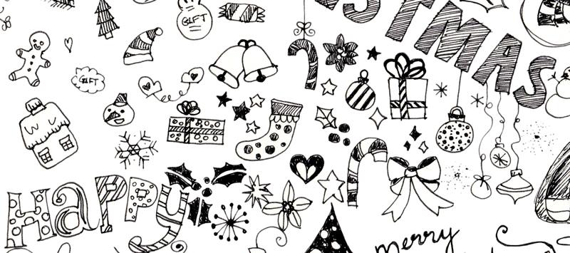 Die Merry-Zeit beginnt, lasst uns Weihnachtsmotive zeichnen | Zeichnen lernen im Doodle Stil Tag 7