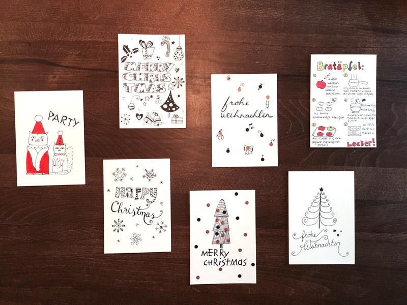 doodle diy doo 7 ideen zum weihnachtskarten zeichnen und gestalten creatipster. Black Bedroom Furniture Sets. Home Design Ideas