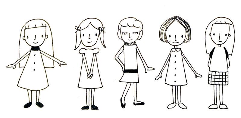 Lustige Leute und Menschen zeichnen – Erste einfache Varianten