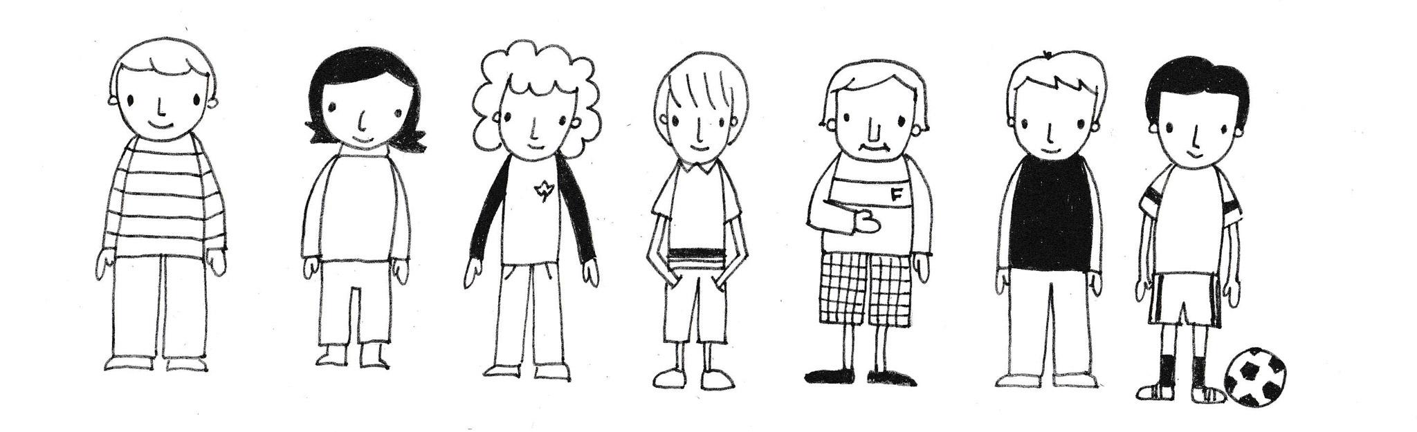 Kleine-Jungen-zeichnen