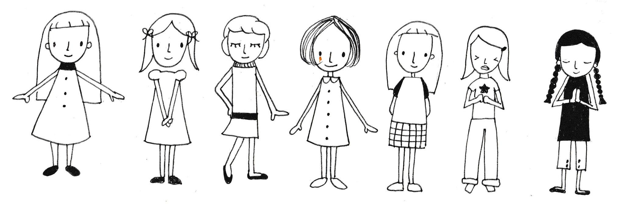Kleine-Mädchen-zeichnen