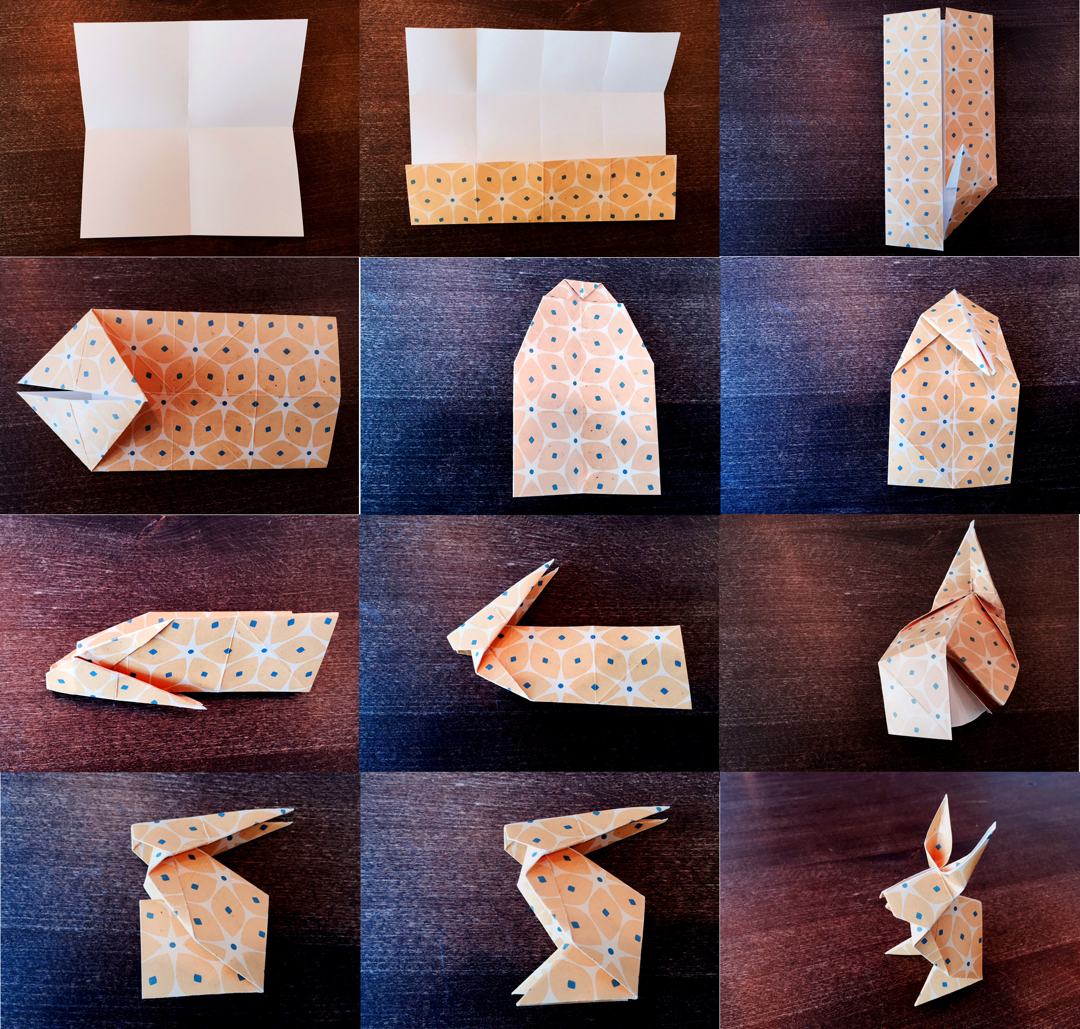Origami-Bunny-falten