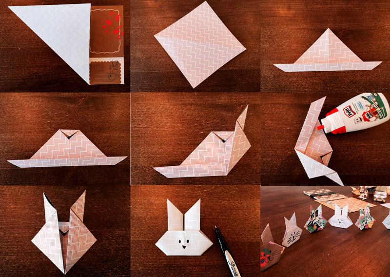 10-Minuten Origami-Osterdeko-Ideen