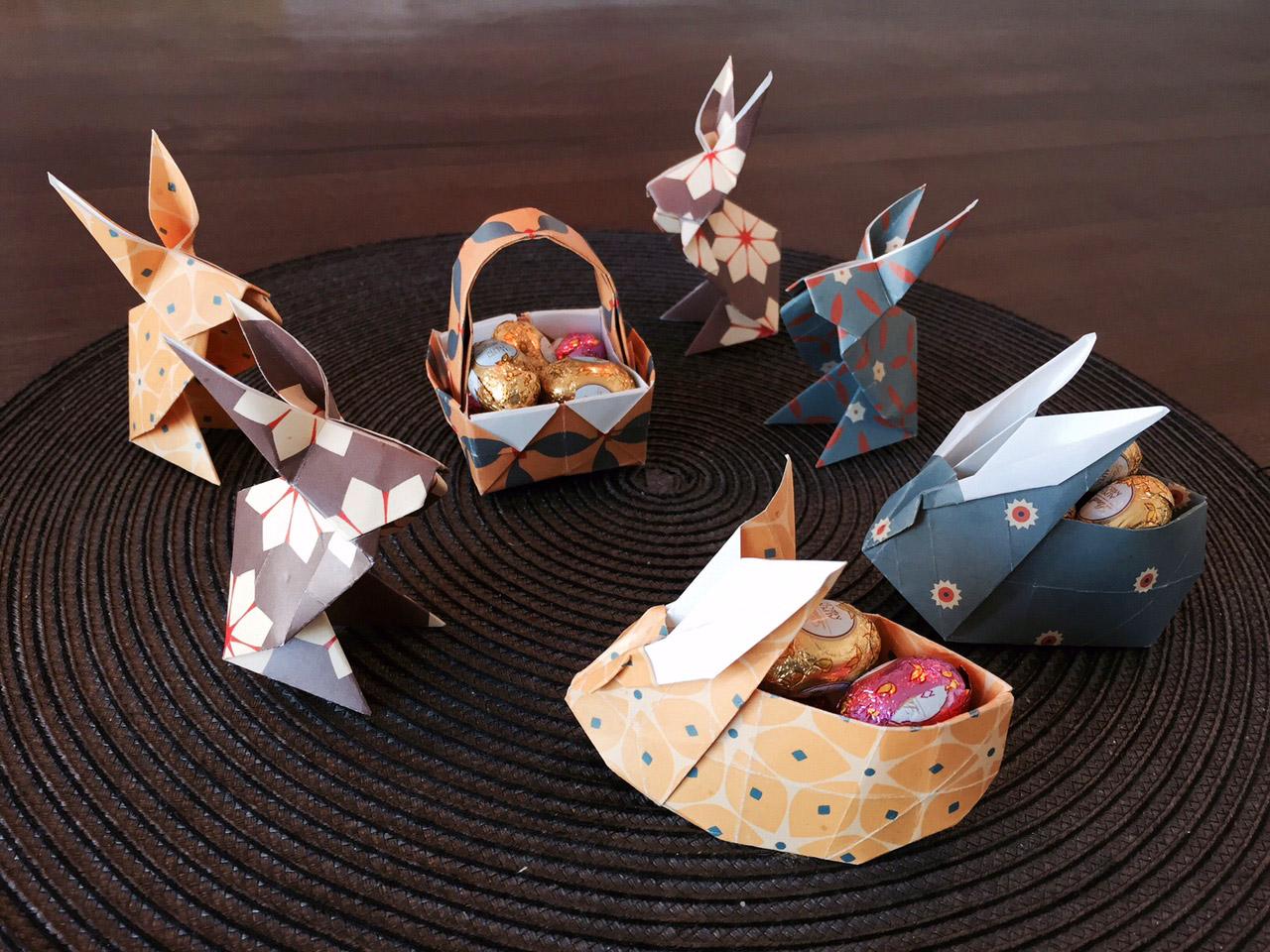 osterkorb hschen einfache bastelvorlage fr kinder origami. Black Bedroom Furniture Sets. Home Design Ideas