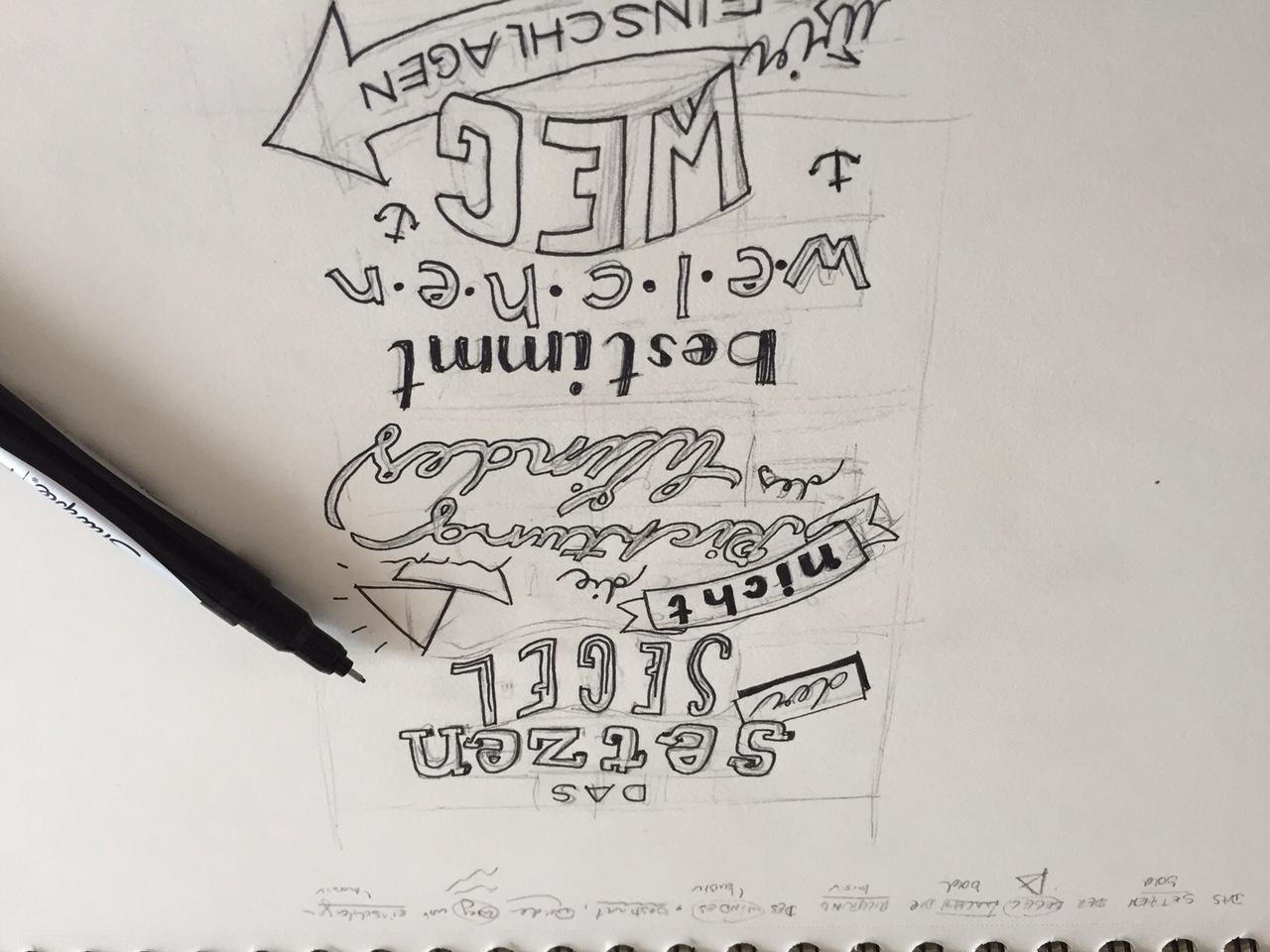 Eine Woche Lang Hand Lettering Technik Inspiration übungen Und