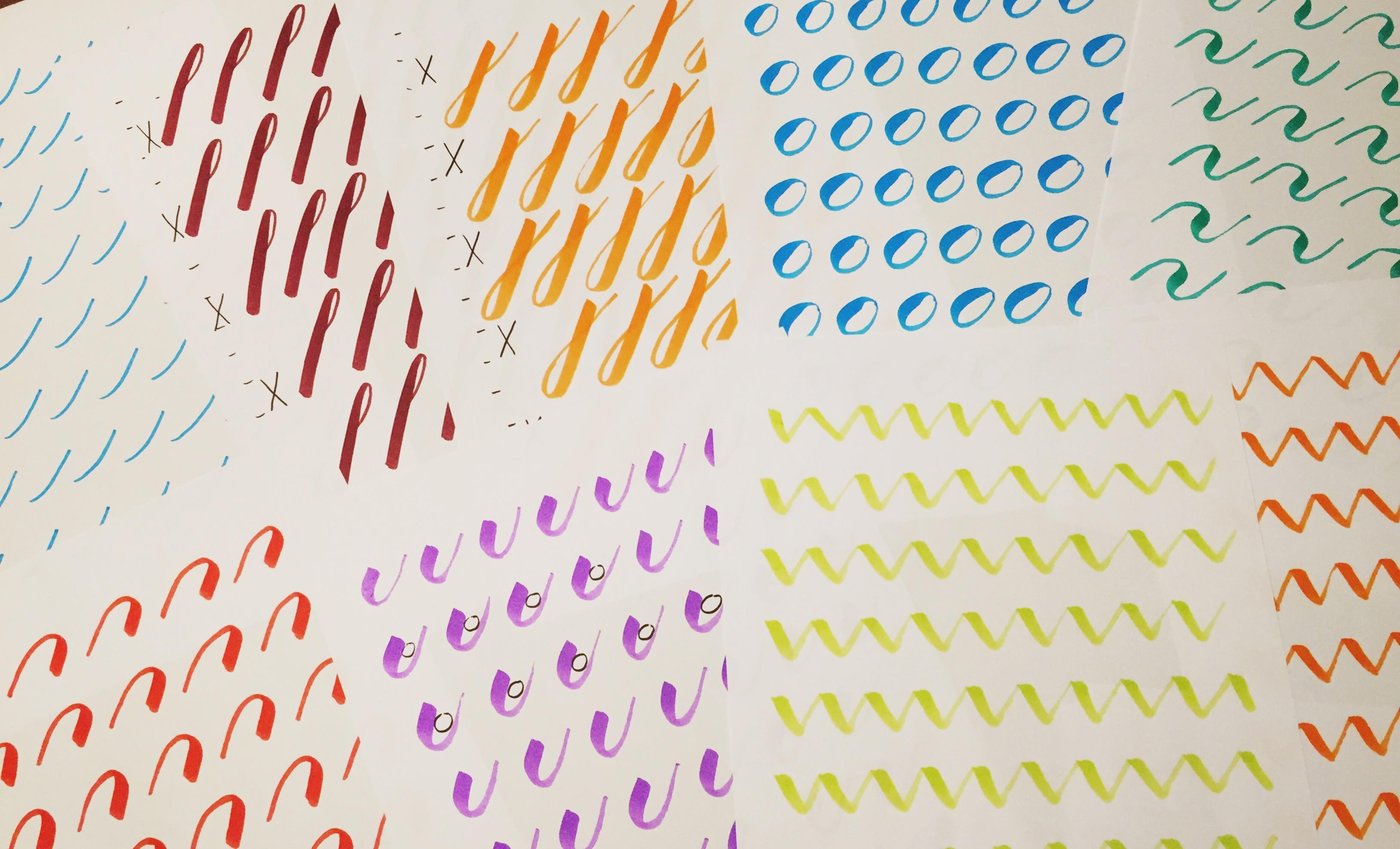 Hand Lettering Aufwärmübung – 12 Striche für den Start
