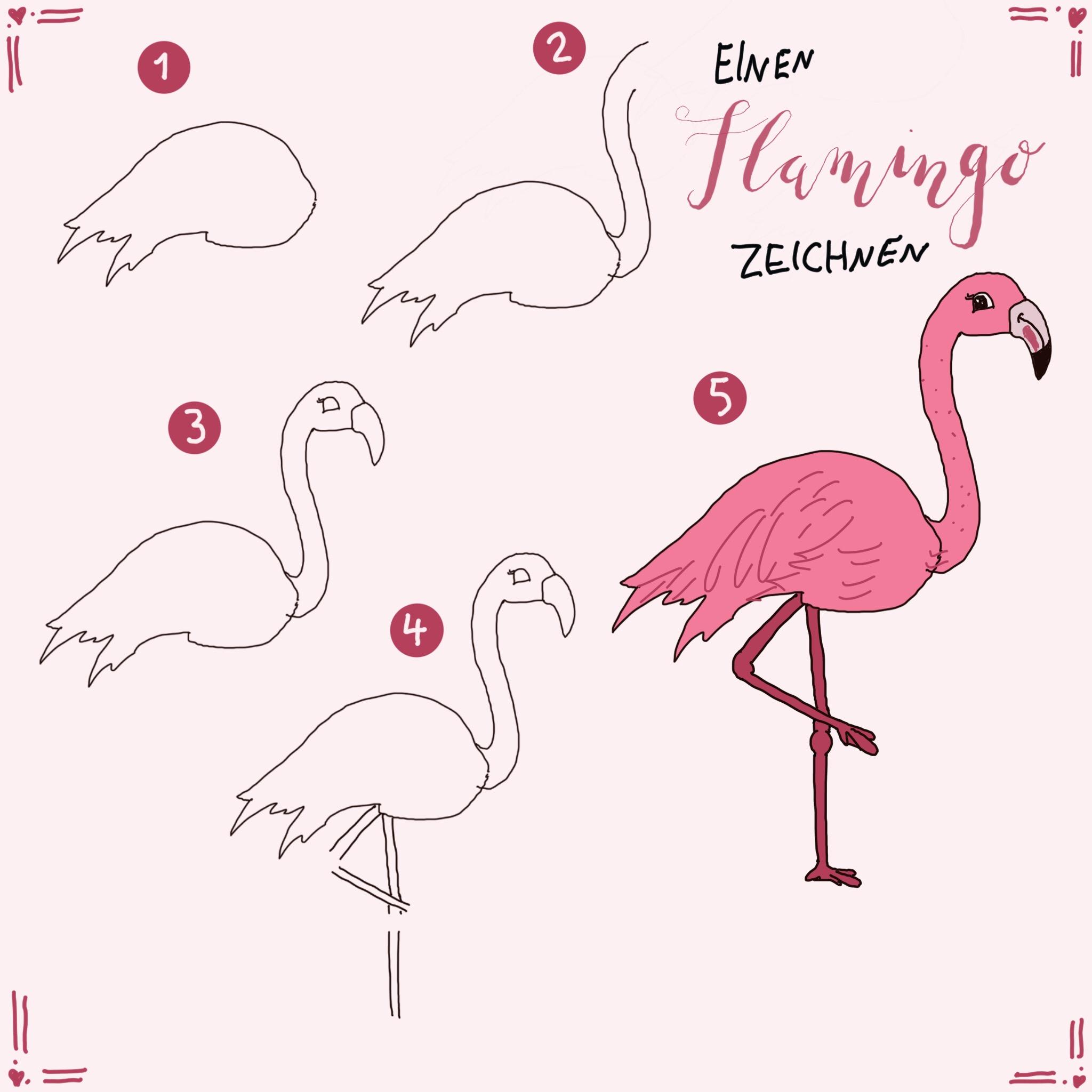 Malvorlage Flamingo Basteln Basteln Flamingo 1