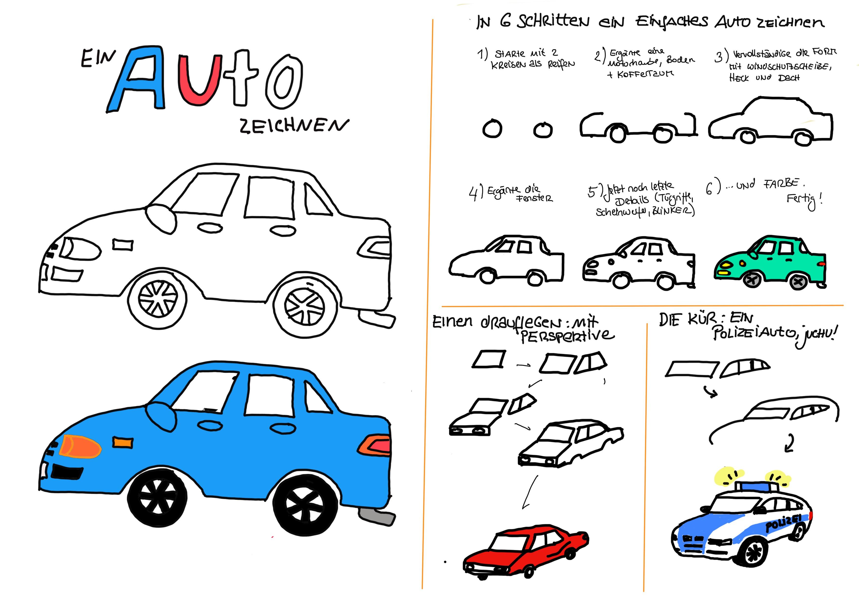 Ein Auto zeichnen | Fahrzeughits der Kids - Creatipster