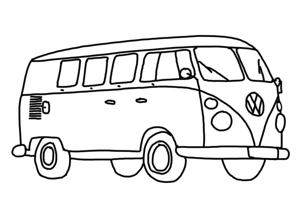 einen bulli zeichnen  für kinder und bulliliebhaber