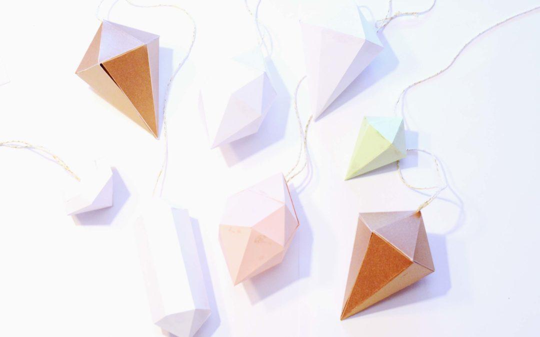 Papierdiamanten – einfach schöner Weihnachtsschmuck