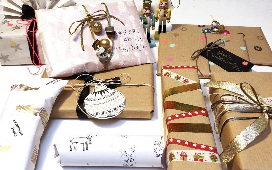 Weihnachtsgeschenke verpacken & ein Last-Minute-DIY-Geschenk