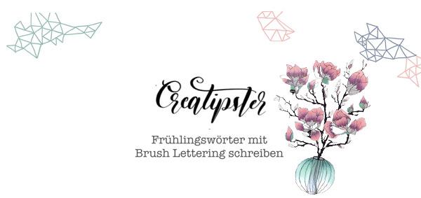 Frühlingswörter mit Brush Lettering schreiben